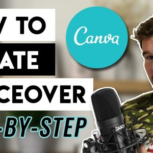 How to Create Voiceover In Canva  - FREE Step By Step Canva Voiceover Upload Tutorial