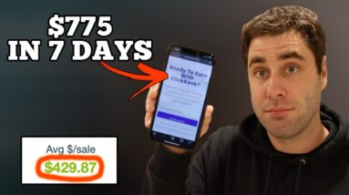 $775 In 7 Days With Clickbank & NEW Strategy | Step By Step Tutorial (PROOF)