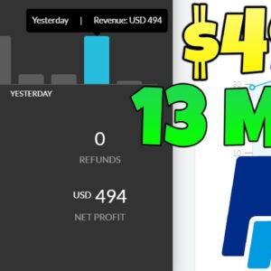 Earn $494.00 In 13 MINUTES For FREE