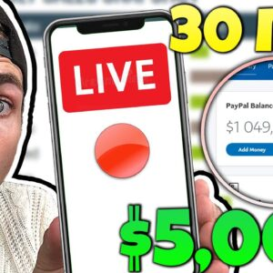 Earn $5000 Per Month Online In 28 Minutes Of Work LIVE 🔴