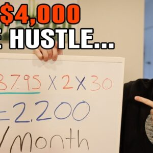 The Easy Side Hustle That Made $4,000 For FREE Online (Make Money)