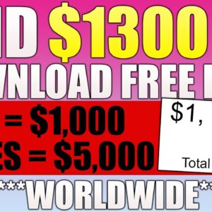 Earn $1300 Downloading FILES For FREE ~ Worldwide! (Make Money Online)