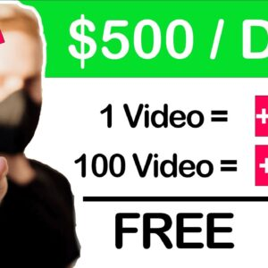 Earn $500+ Watching Videos ($5.00 Per Video) FREE Make Money Online