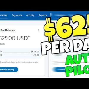 Earn $625.00 Per Day On AUTOPILOT (HUGE Traffic Method - Make Money Online)