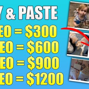 Copy & Paste Videos And Earn $300+ Per Video (FULL Tutorial - Not YouTube) Make Money Online!