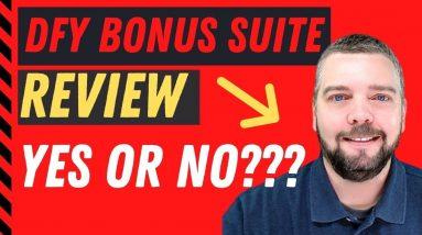 DFY BONUS SUITE  REVIEW - Chris Derenberger ROCKS 😍 with DFY BONUS SUITE - 10/10 Start Product
