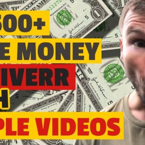 🔥 Make Money on Fiverr 🔥 - How  to Make $500+ On FIVERR with SIMPLE Videos