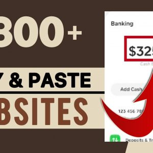 This FREE website Pays You To Copy & Paste! Make $300+ A Day | Make Money Online 2021