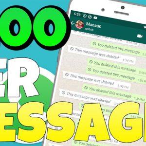 Earn $200 Per FREE Message You Send (Make Money Online 2021)