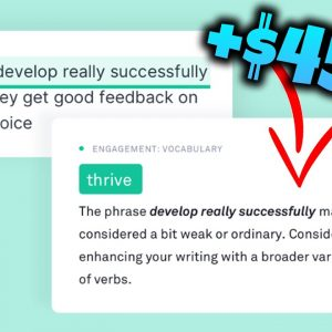 Earn $450.00 Per Day With Grammarly Text Correction - WORLDWIDE & FREE