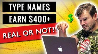 Can You Earn $400+ Typing Names $15 Per Page - EARN Money Online Typing Scam