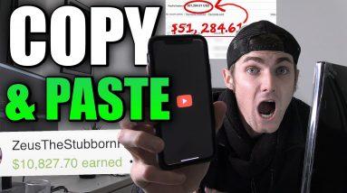 Copy & Paste Videos and Earn Money (NOT YOUTUBE) | $10,827.70 Earned So Far