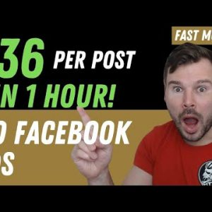 How I Made $36 Per Post On Facebook In Less Than 1 Hour / No Facebook Ads (Walker Way Review)