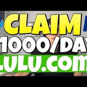 Get Paid $1,000/Day On Lulu.com (WEIRD Trick To Make Money Online With This NEW Website)