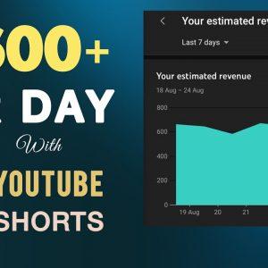 Make $600+ Copy & Pasting Youtube Shorts   Make Money With Youtube Shorts